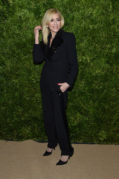 Judith Light Pantsuit [suit,clothing,pantsuit,formal wear,standing,tuxedo,outerwear,businessperson,gesture,blazer,judith light,vogue fashion fund 2019 awards,new york city,cipriani south street,cfda]