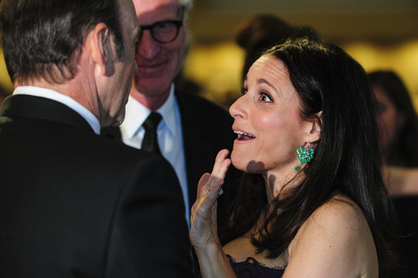 Julia Louis-Dreyfus Dangling Gemstone Earrings