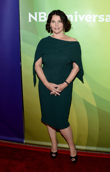 Julia Ormond Off-the-Shoulder Dress