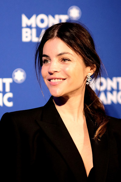 Julia Restoin-Roitfeld Loose Ponytail [le petit prince,hair,hairstyle,white-collar worker,premiere,television presenter,electric blue,spokesperson,event,long hair,smile,julia restoin roitfeld,new york city,montblanc meisterstuck,one world trade center observatory,event,event]