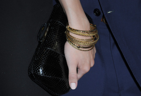 Julianna Margulies Patent Leather Clutch