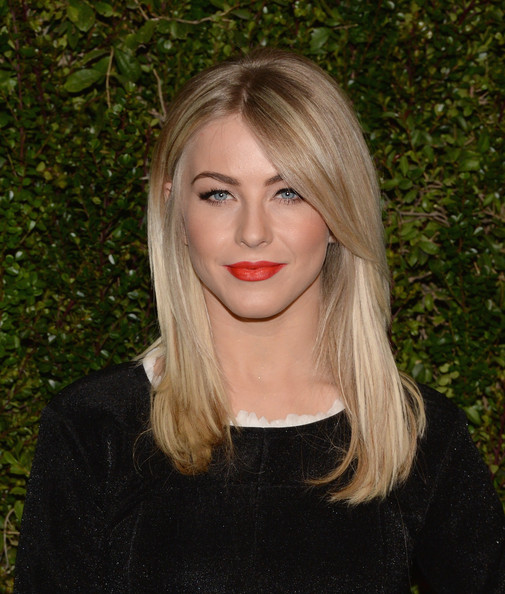 Julianne Hough Bright Lipstick [photo book,find it in everything,hair,blond,human hair color,beauty,eyebrow,hairstyle,lip,chin,long hair,layered hair,chanel celebrates the release of drew barrymore,drew barrymore,julianne hough,chanel boutique,california,beverly hills,chanel celebration,release]