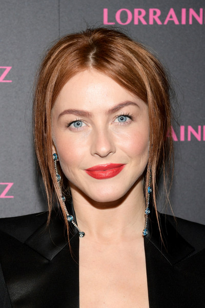 Julianne Hough Red Lipstick [hair,face,hairstyle,lip,eyebrow,chin,blond,forehead,beauty,cheek,evil eye collection - arrivals,lorraine schwartz,julianne hough,delilah,addition,signature,west hollywood,california,the eye bangle,evil eye collection]