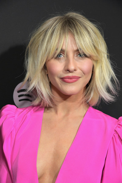 Julianne Hough Shag [best new artist 2019,hair,blond,face,hairstyle,layered hair,pink,chin,eyebrow,lip,beauty,spotify,julianne hough,hairdresser,hair,hair,hairstyle,los angeles,red carpet,event,julianne hough,americas got talent,hairstyle,bob cut,los angeles,hair,short hair,hairdresser,spotify]