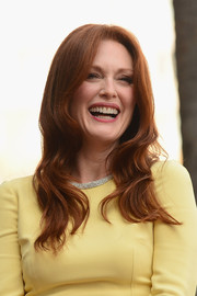 Julianne Moore wore her hair down in billowy waves during her Hollywood Walk of Fame ceremony.