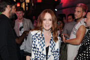 Julianne Moore Printed Coat