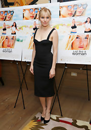 Sienna Miller stuck to a sleek and stylish fitted LBD for the 'Just Like a Woman' screening in NYC.