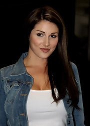 Lucy Pinder sported a sleek straight side-parted 'do at the gala screening of 'Just for the Record.'