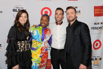 Justin Timberlake Jessica Biel GLSEN Respect Awards - Los Angeles - Backstage