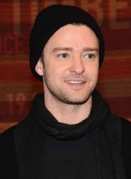 Justin Timberlake's black knit beanie was a casual and cool touch to the singer's look at '106 & Park.'