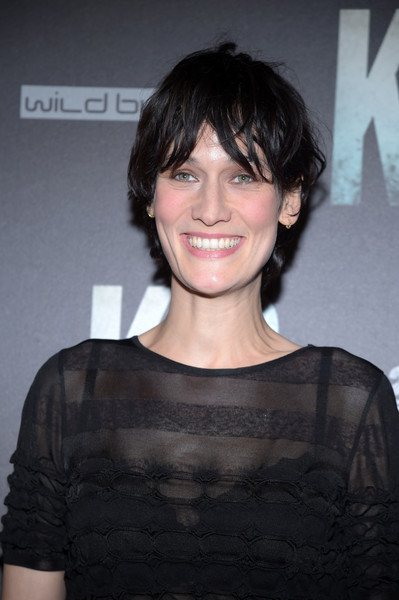 Clotilde Hesme opted for a casual short 'do when she attended the 'K.O.' Paris premiere.
