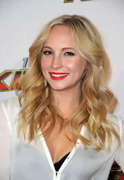 Candice Accola looked oh-so-pretty at the 2011 Jingle Ball with her bright red lips and luminous skin.