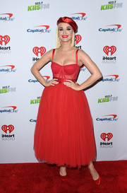 Katy Perry rocked a red corset tulle dress by Dolce & Gabbana at KIIS FM's Jingle Ball 2019.