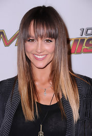 'Blue Crush 2' actress Sharni Vinson wore her dark ombre locks straight with blunt bangs for the Wango Tango concert.