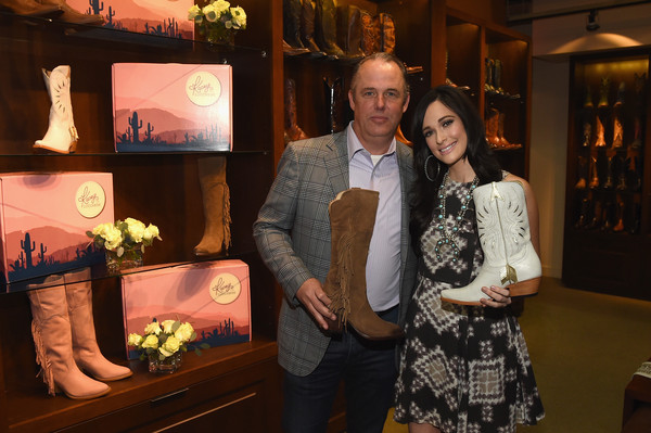 More Pics of Kacey Musgraves Print Dress (5 of 20) - Kacey Musgraves Lookbook - StyleBistro [event,room,leisure,interior design,tourist attraction,tourism,art,kacey musgraves,doug kindy,nashville,tennessee,lucchese,kacey for lucchese collection launch event]