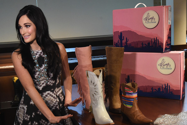 More Pics of Kacey Musgraves Print Dress (2 of 20) - Kacey Musgraves Lookbook - StyleBistro [kacey for lucchese collection launch event,footwear,skin,fashion,riding boot,boot,cowboy boot,leg,shoe,human leg,dress,kacey musgraves attends,kacey musgraves,nashville,tennessee,kacey for lucchese collection launch event]