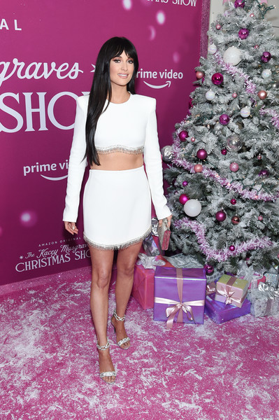 More Pics of Kacey Musgraves Evening Sandals (3 of 23) - Kacey Musgraves Lookbook - StyleBistro [kacey musgraves christmas show,clothing,red carpet,fashion,crop top,pink,fashion model,shoulder,dress,carpet,flooring,kacey musgraves,screening,new york,metrograph,screening]