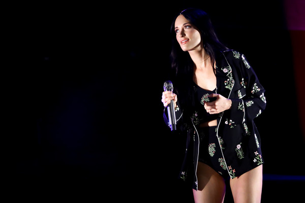 More Pics of Kacey Musgraves Pajamas (3 of 29) - Pajamas & Intimates Lookbook - StyleBistro [performance,performing arts,thigh,black hair,music artist,leg,event,stage,talent show,singer,los angeles,ca,greek theatre,kacey musgraves in concert,kacey musgraves]