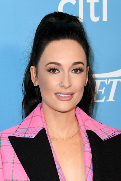Kacey Musgraves Diamond Studs [hair,face,hairstyle,eyebrow,lip,chin,beauty,forehead,skin,cheek,kacey musgraves,hitmakers brunch,beauty,hairstyle,hair coloring,hair,fashion,face,2019 variety,2019 varietys hitmakers brunch,beauty,hair coloring,lipstick,hairstyle,bts v,ponytail,2019,fashion,jin]