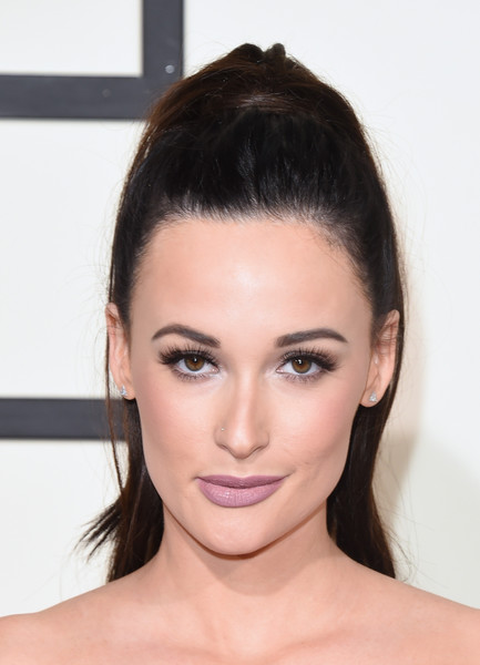 Kacey Musgraves Ponytail [hair,face,eyebrow,hairstyle,forehead,lip,chin,skin,beauty,cheek,arrivals,kacey musgraves,grammy awards,staples center,los angeles,california,the 58th grammy awards]