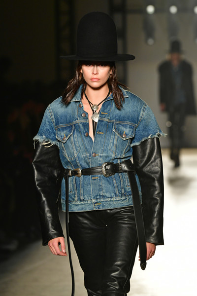 Kaia Gerber Leather Belt [shows,the shows,denim,clothing,fashion,fashion show,jeans,fashion model,leather,jacket,leather jacket,textile,kaia gerber,runway,new york city,new york fashion week,kaia jordan gerber,new york fashion week,runway,fashion,model,fashion week,fashion show,denim,fashion designer,fashion design]