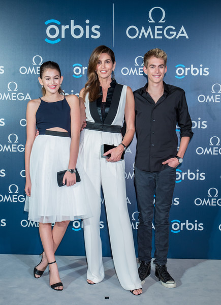 Kaia Gerber Satin Clutch [omega screens asian premiere of the hospital,sky movie,the hospital in the sky,fashion,premiere,event,dress,fashion design,white-collar worker,carpet,style,cocktail dress,presley gerber,kaia gerber,cindy crawford,supermodel,hong kong,omega,premiere]
