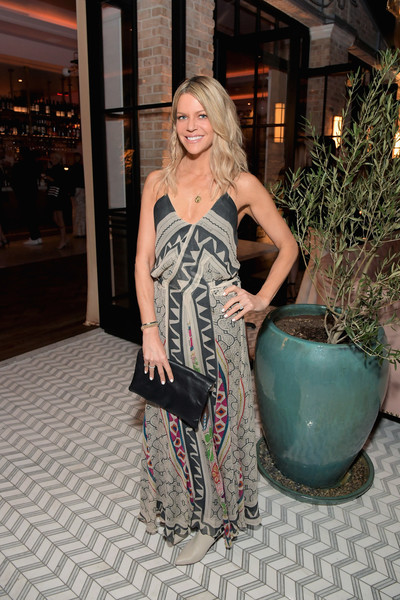 Kaitlin Olson Leather Clutch [jennifer meyer celebrates first store opening,rick caruso,kaitlin olson,the draycott with gwyneth paltrow,clothing,shoulder,fashion,dress,fashion model,long hair,fashion design,haute couture,photo shoot,style,palisades village,pacific palisades,california]