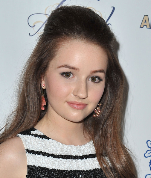 Kaitlyn Dever Half Up Half Down [hair,face,eyebrow,hairstyle,lip,beauty,chin,forehead,long hair,brown hair,midnight mission golden heart awards,beverly hills,california,beverly wilshire four seasons hotel,kaitlyn dever]