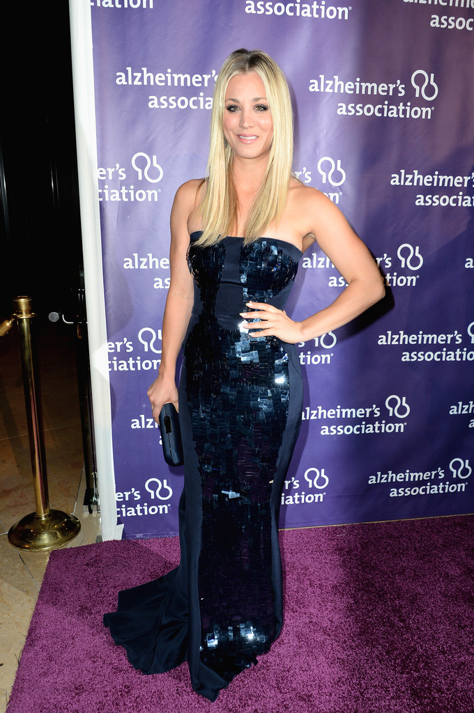 Kaley Cuoco Strapless Dress - Clothes Lookbook - StyleBistro