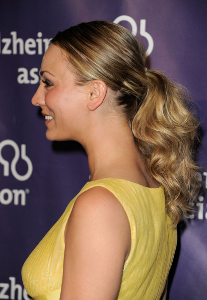 Kaley Cuoco Ponytail