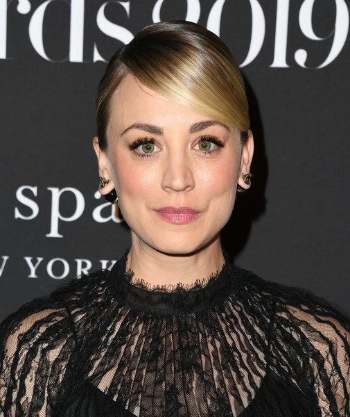Kaley Cuoco Ponytail [hair,face,hairstyle,eyebrow,lip,skin,beauty,chin,blond,long hair,arrivals,kaley cuoco,instyle awards,the getty center,los angeles,california]