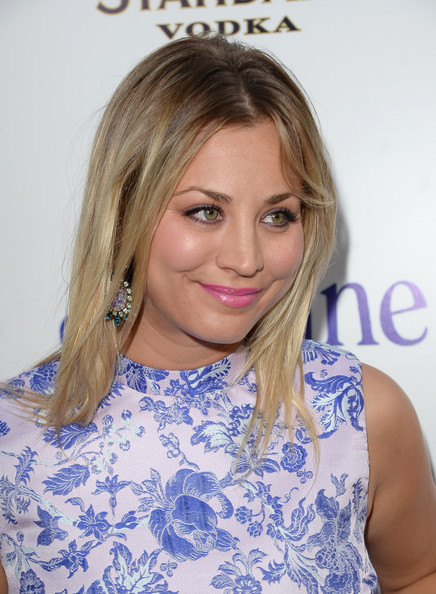 Kaley Cuoco Medium Straight Cut