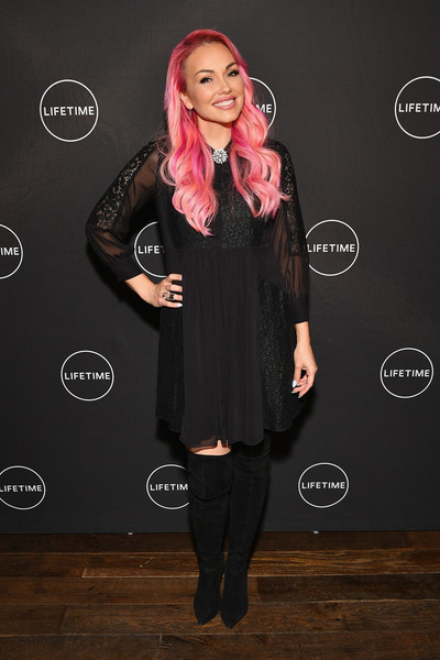 Kandee Johnson Over the Knee Boots [glam masters attend the exclusive premiere event,show,clothing,pink,fashion,dress,footwear,lip,little black dress,magenta,long hair,cocktail dress,executive producer,executive producer,kandee johnson,of lifetimes new show,dirty french,new york,lifetime,premiere event]