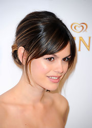 Rachel Bilson opted for a classic look at the Tribeca Film Festival with a sleek chignon and wispy bangs.