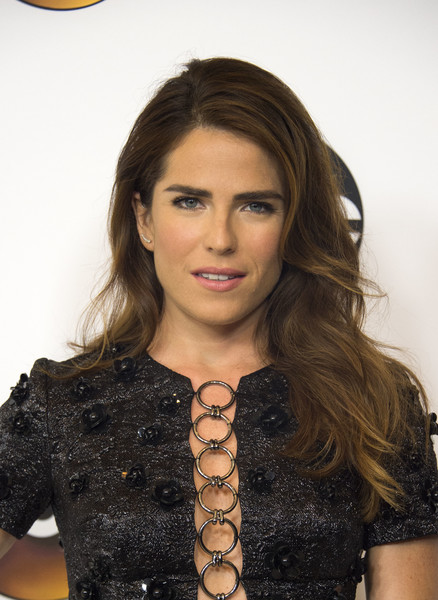 Karla Souza Long Wavy Cut [hair,face,hairstyle,beauty,long hair,brown hair,layered hair,lip,black hair,smile,arrivals,karla souza,valerie macon,beverly hills,tour - nbcuniversal,disney,afp,summer tca,press tour,abc television group tca summer press tour]