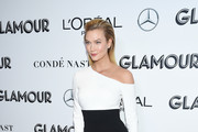 Karlie Kloss Off-the-Shoulder Dress