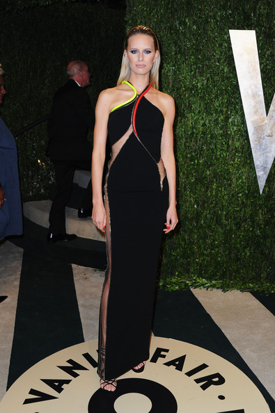 Karolina Kurkova Halter Dress