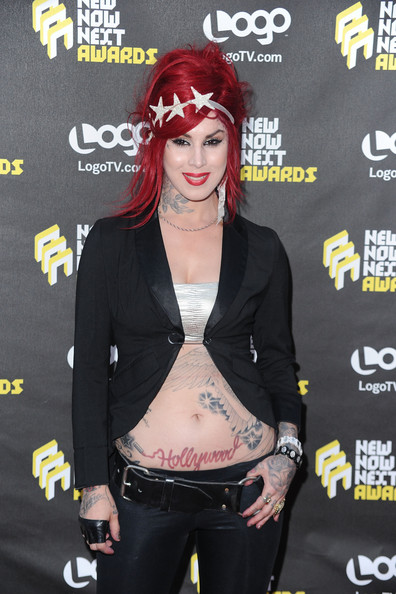 Kat Von D arrives at Logo's 3rd annual NewNowNext Awards held at The