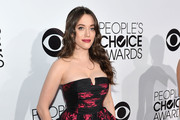 Kat Dennings Strapless Dress