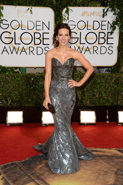 Kate Beckinsale Beaded Dress
