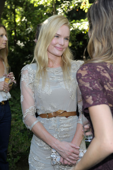 Kate Bosworth Leather Belt [hair,clothing,blond,dress,fashion,beauty,hairstyle,long hair,shoulder,textile,kate bosworth,garden tea,burberry beauty,burberry beauty garden tea event,residence,beverly hills,california]