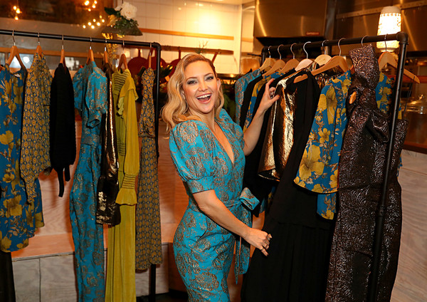 More Pics of Kate Hudson Evening Sandals (1 of 23) - Kate Hudson Lookbook - StyleBistro [boutique,clothing,bazaar,fashion,fashion design,textile,formal wear,shopping,room,event,nature eco-evening collection,kate hudson celebrates happy x,kate hudson,daughter,collection,nature,happy x,venice,the butcher\u00e2,cocktail event]