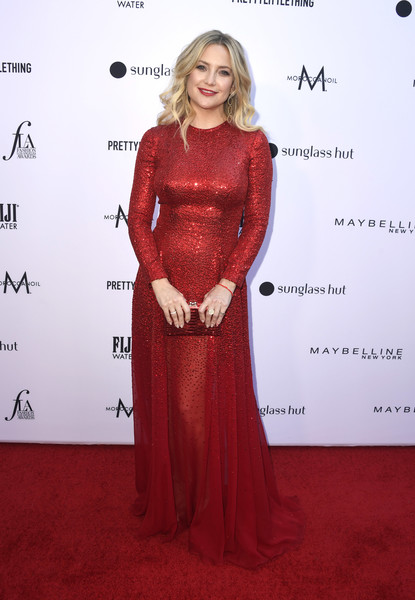 Kate Hudson Box Clutch [red carpet,carpet,clothing,dress,red,flooring,hairstyle,gown,premiere,fashion,arrivals,kate hudson,beverly hills hotel,california,daily front row,the daily front row,5th annual fashion los angeles awards]