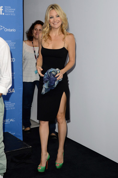 Kate Hudson Peep Toe Pumps [call,the reluctant fundamentalist,clothing,shoulder,dress,leg,little black dress,fashion,cocktail dress,footwear,joint,blond,lydia dean pilcher,kate hudson,tiff bell lightbox,toronto,canada,toronto international film festival]