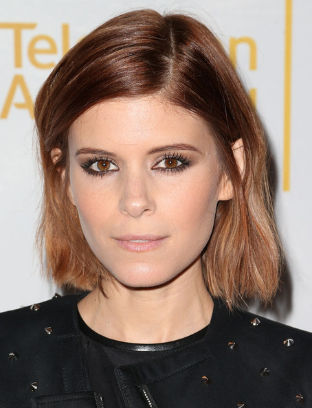 Kate Mara Bob [hair,face,hairstyle,eyebrow,chin,lip,beauty,blond,brown hair,forehead,arrivals,casting directors,kate mara,casting nominees,tanzy,california,los angeles,television academy,peer group celebrates the 66th emmy awards,peer group celebrates the 66th emmy awards outstanding]