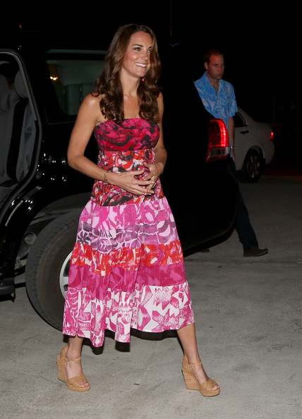 Kate Middleton Strapless Dress