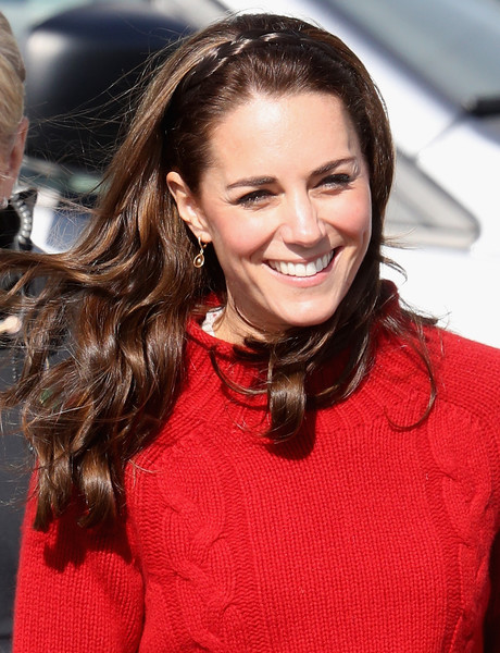 Kate Middleton Long Partially Braided