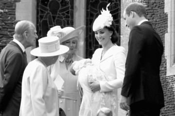 Kate Middleton Prince Philip The Christening of Princess Charlotte of Cambridge