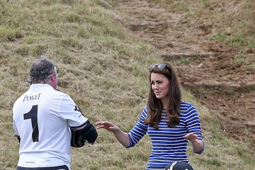 Kate Middleton Prince William The Duke of Cambridge and Prince Harry Play in Gigaset Charity Polo Match