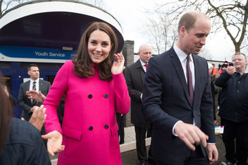 Kate Middleton Prince William The Duke and Duchess Of Cambridge Visit Coventry